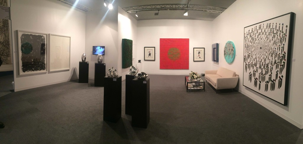 Panorama shot of Booth B14 at Abu Dhabi Art 2015
