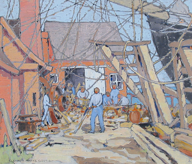Eleanor Parke Custis, 'At the Dry Dock, Gloucester MA', 1924, Caldwell Gallery Hudson