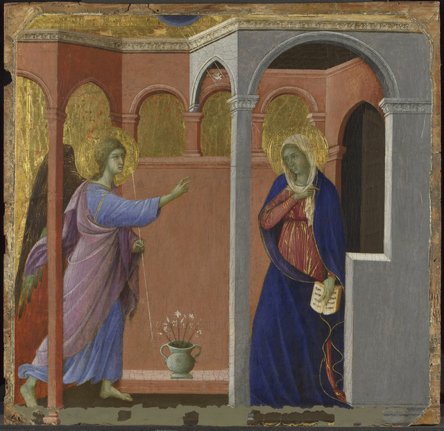 , 'The Annunciation,' 1307/8-1311, The National Gallery, London