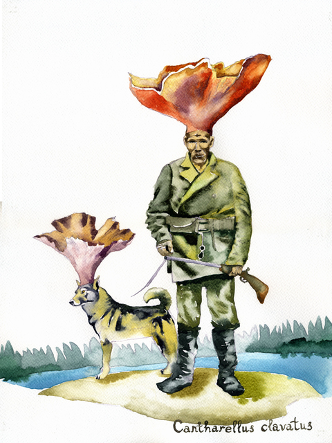 , 'Mushroom-hunter and a Dog,' 2016, SABSAY