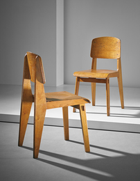 "Pair of ""Tout Bois"" chairs"