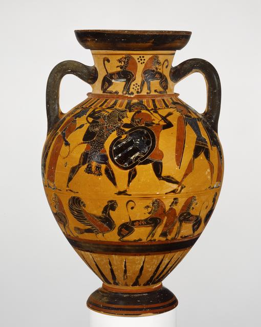 'Black-Figure Neck Amphora',  about 570 -560 B.C., J. Paul Getty Museum