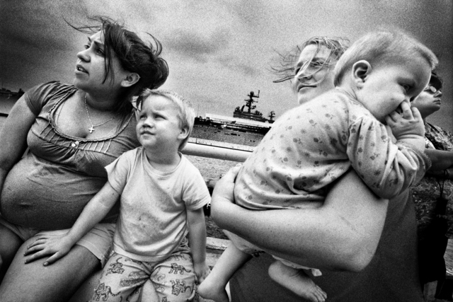 , 'SERVICE: Families saying goodbye to soldiers departing on the USS Iwo, Jima. Norfolk.,' 2008, Milk Gallery
