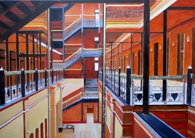 Bert Hermans, 'Bradbury building', 2019, Painting, Oil on Canvas, the gallery STEINER