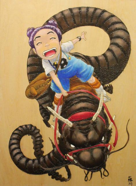 Norio Fujikawa, 'Dragon Ride ', 2019, Painting, Acrylic and laser cut on wood panel, Art Attack SF