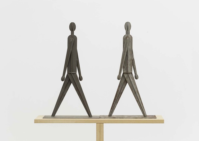 , 'Two People Who Walks Along the Right/Left Side While Walking Towards/Away from Each Other,' 2011, Beijing Commune