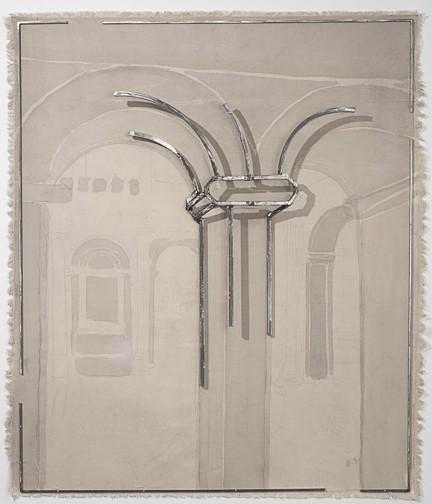 Juan Garaizabal, 'Understanding The Presence, VII.  Paris', 2017, Sculpture, Steel, gouache on fabric, Bogena Galerie