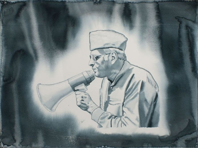 T.V. Santhosh, 'Untitled 2 (Politician)', 2010, Drawing, Collage or other Work on Paper, Watercolor on paper, Aicon Gallery