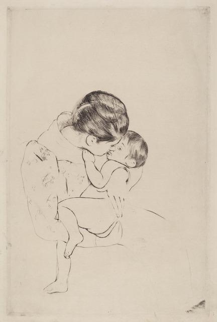 Mary Cassatt, 'Mother's Kiss', ca. 1891, National Gallery of Art, Washington, D.C.