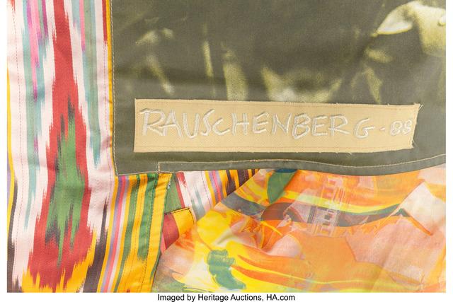Robert Rauschenberg, 'Samarkand Stitches III', 1988, Print, Silkscreen and collage on fabric, Heritage Auctions