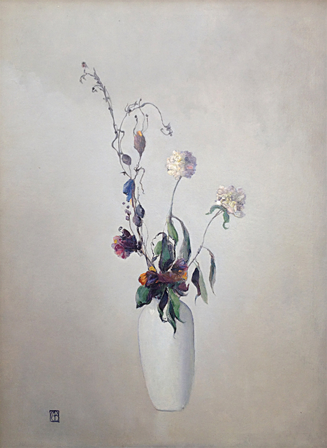 , 'Vase Blanc Avec Fleurs,' ca. 1930, Sullivan Goss