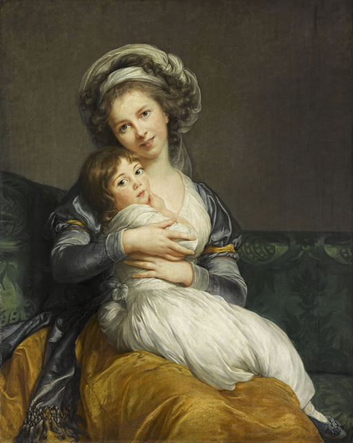 , 'Self-Portrait with her Daughter, Julie,' 1786, RMN Grand Palais