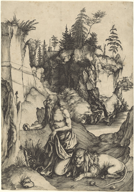 Albrecht Dürer, 'Saint Jerome Penitent in the Wilderness', ca. 1496, National Gallery of Art, Washington, D.C.