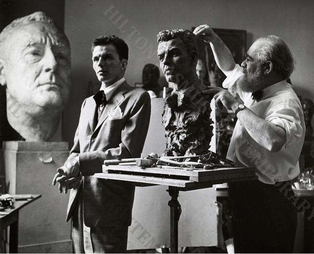 , 'Frank Sinatra - Study for a Bronze Bust,' ca. 1946, Hilton Asmus