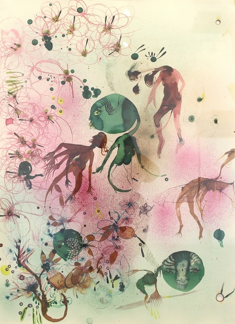 , 'Bacteria: In combat 540 wild beasts in green fury took refuge in curdled milk, kindled friendship with nomads skimmed butter as treasure absconded with proteins warmed milk until certain odor blew more flora,' 2012, Ota Fine Arts