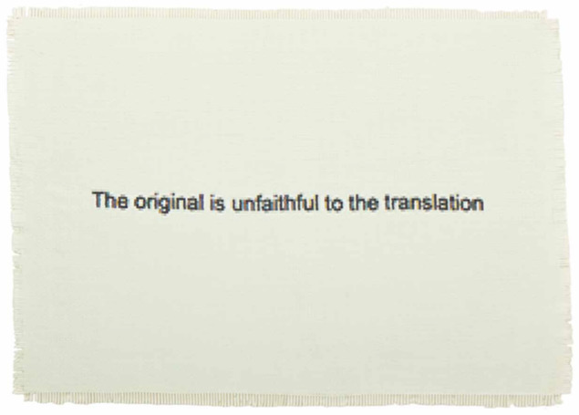, 'The Original is Unfaithful to the Translation,' 2015, Dillon + Lee