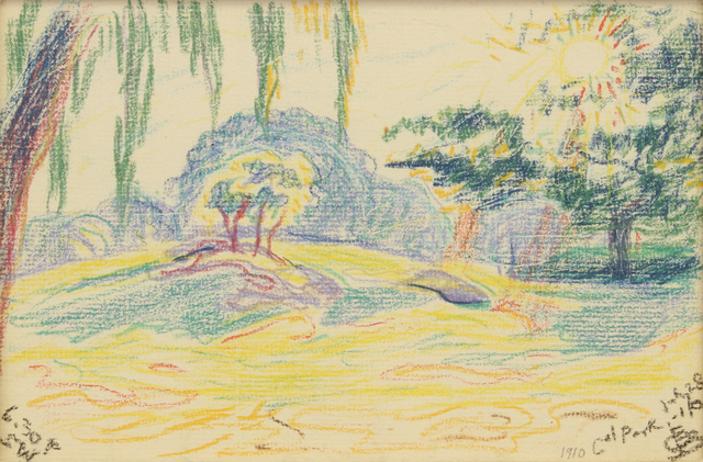 , 'Park Scene,' 1910, Addison Rowe Gallery
