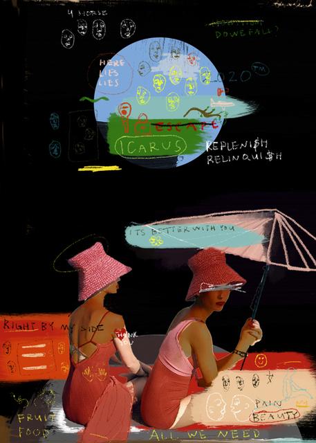 Adriana Miranda, 'Escape (Thankful For You)', 2020, Painting, Digital Painting, Dab Art