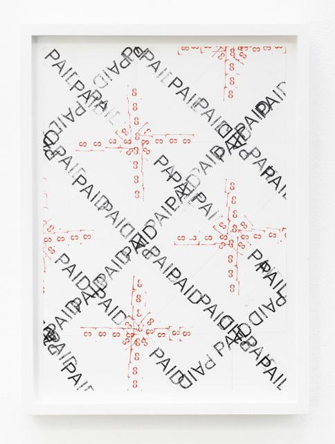 , 'Joy in Paperwork 37,' 2015, KÖNIG GALERIE