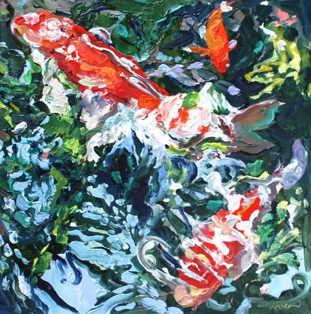 , 'Three Koi, August 2,' 2016, Beth Urdang Gallery