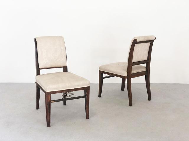 Jacques-Emile Ruhlmann, 'Pair rare Chair', ca. 1920, LTWID by Vintage Domus