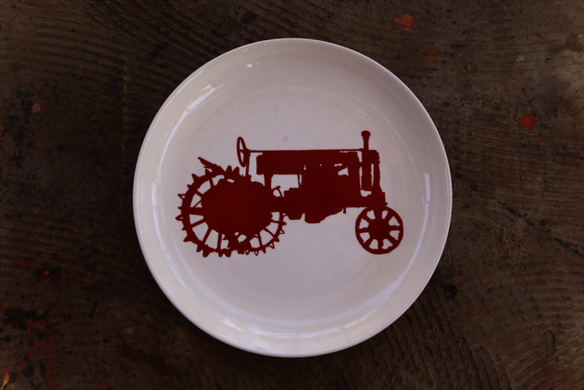 , 'Plate with Kyzyl Tractor logo,' 2007-ongoing, Asia Contemporary Art Week