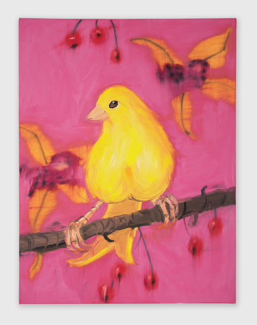 , 'Yello Fello (on Pink with Cherries),' 2018, Shane Campbell Gallery