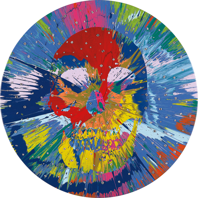 Damien Hirst, 'Beautiful Catequil Negativism Painting for Nick (with Diamonds)', 2011, Phillips