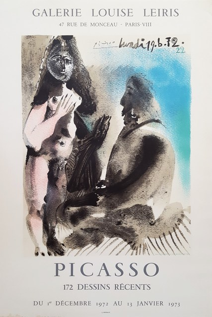 Pablo Picasso, 'Galerie Louis Leiris: The Painter & His Model', 1972, Posters, Lithograph, Exhibition Poster, Graves International Art