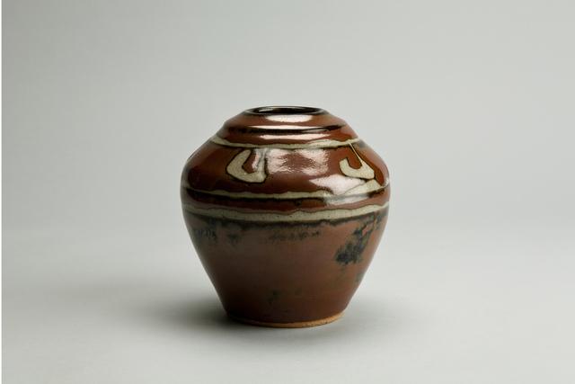 Shinsaku Hamada, 'Vase, kaki glaze with wax resist decoration', Design/Decorative Art, Stoneware, Pucker Gallery