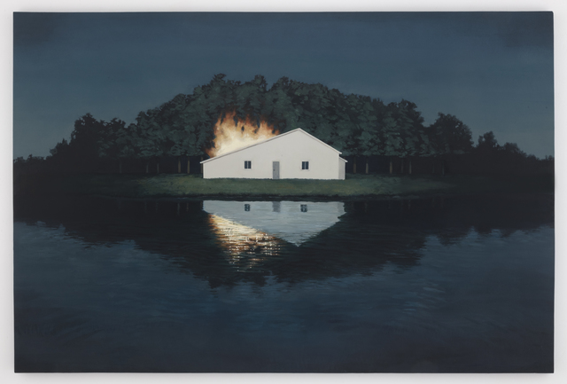 Motohide Takami, 'FIRE.P', 2013, Painting, Oil and chalk on panel, SEIZAN Gallery