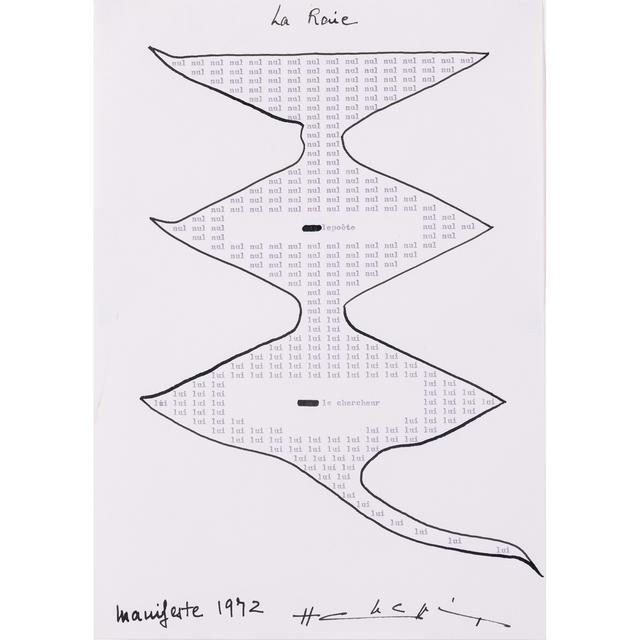 Henri Chopin, 'La Raie', 1972, PIASA