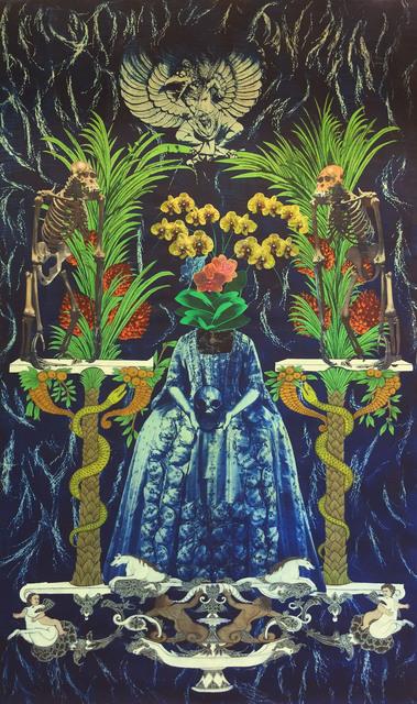 , 'Summer Blooming (deep blue mirror series),' 2020, Mizuma Art Gallery