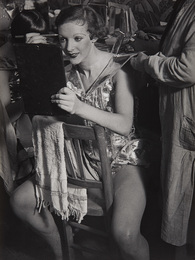 An English girl in her dressing room at the Folies-Bergère
