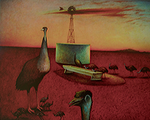 , 'Emus at the Cattle Trough ,' 2012, Anthony Horth Gallery