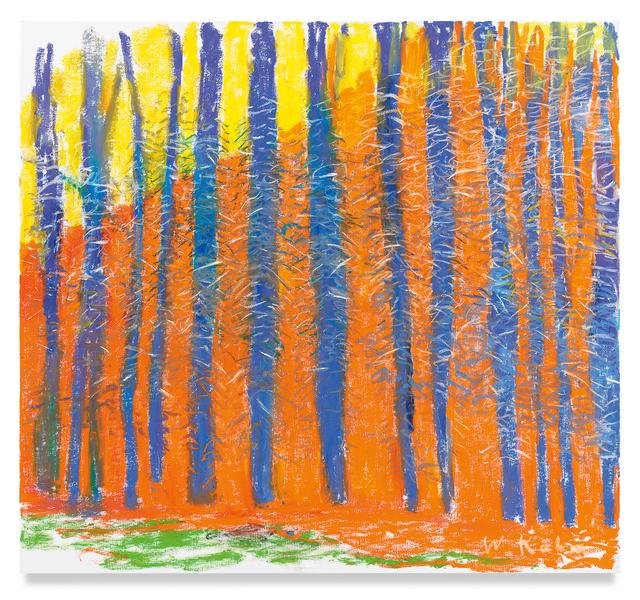 Wolf Kahn, 'Exchange, Orange and Blue', 2019, Miles McEnery Gallery
