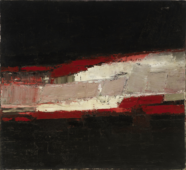 , 'No. 1 Red White + Black,' ca. 1958, Osborne Samuel