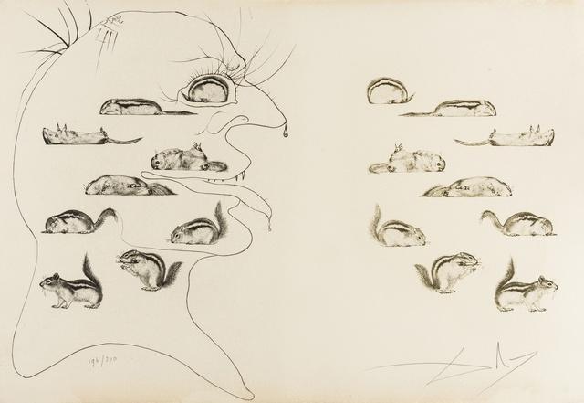 Salvador Dalí, 'L'Homme ressucité par l'holographie de l'écureuil (M & L 567b; Field 73-20A)', 1975, Forum Auctions