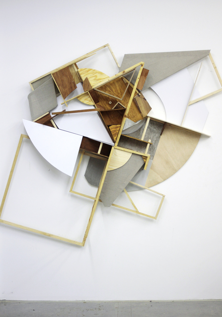 Clemens Behr, 'Verrücktes Regal', 2013, Sculpture, Wood, Cardboard, Alubond, Canvas, Paint