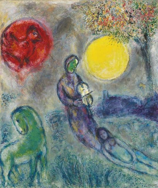 Marc Chagall, 'Le Violoniste sous la Lune', 1975, Painting, Oil on canvas, David Benrimon Fine Art