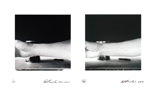 , 'Self-Portrait of My Forearm 1960 and Self-Portrait of My Forearm,' 2014, CCA Wattis Institute For Contemporary Arts