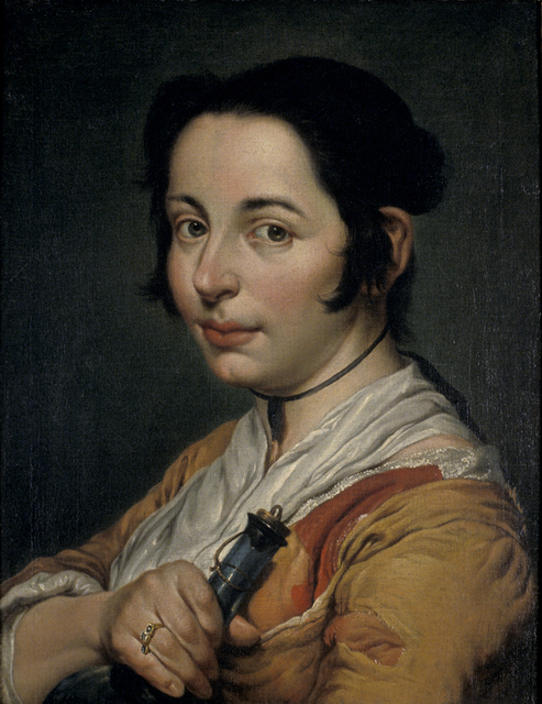 Giacomo Ceruti, 'Young Peasant Woman Holding a Wine Flask', 1737, Blanton Museum of Art