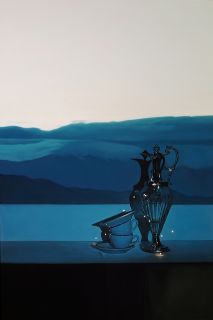 Tom Betts, 'Lost in the Desert with Glass and Cups', 2018, Painting, Oil on panel, Plus One Gallery