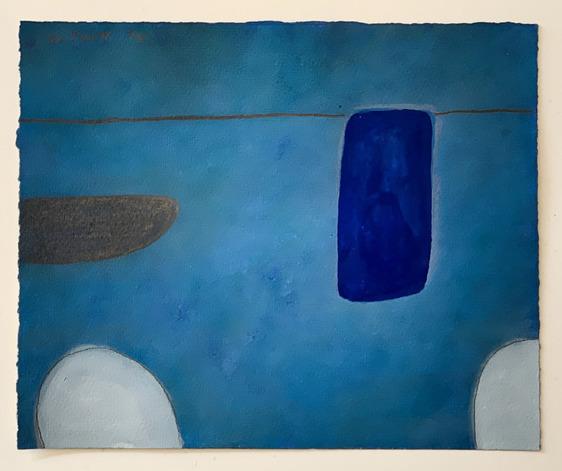William Scott (1913-1989), 'Still Life Abstracted 1st Theme, In Blue, No XLVI/L', 1974, Dellasposa