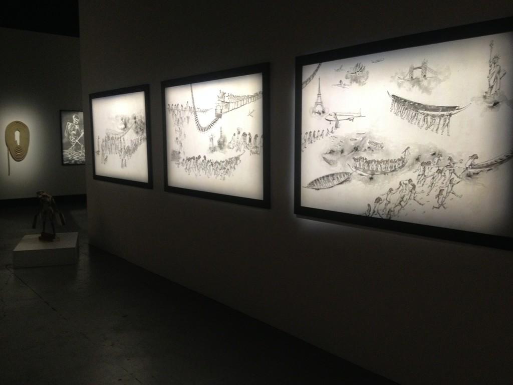 "Mamady SEYDI: Drawings, exhibition ""FUIR"" Foundation BLACHERE, Apt (France) 2017"