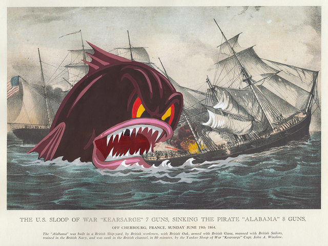 , 'The US Sloop of War,' 2017, Jonathan LeVine Projects