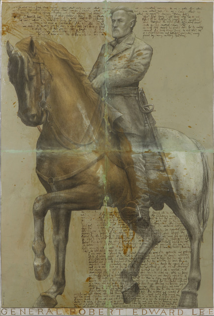 , 'Drawing of General Robert E. Lee,' 2013, Valley House Gallery & Sculpture Garden