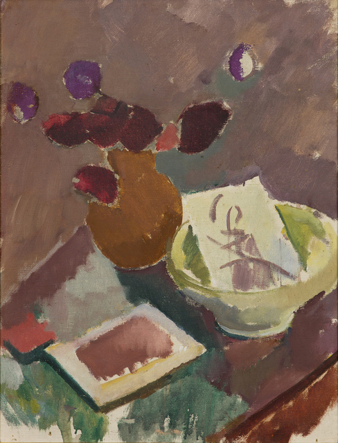 , 'Stilleben med skål och vas (Still life with bowl and vase),' , CFHILL