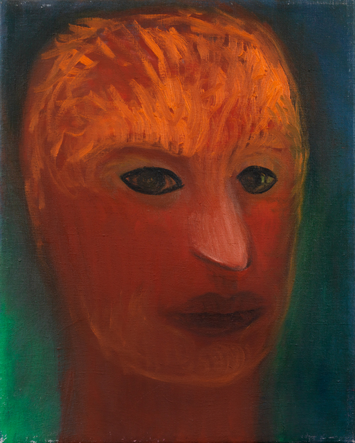 Miriam Cahn, 'denkender soldat', 2000, Blondeau & Cie