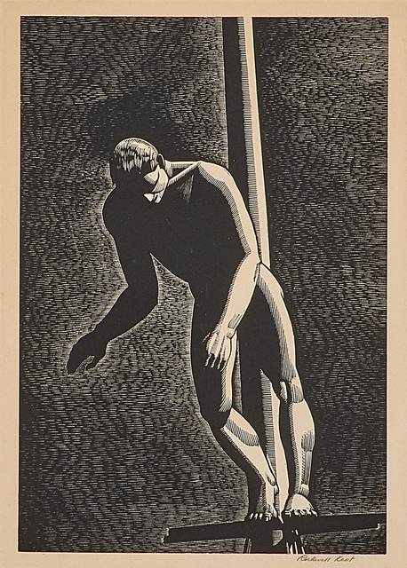 Rockwell Kent, 'The Diver', 1931, Print, Wood engraving on paper (framed), Rago/Wright